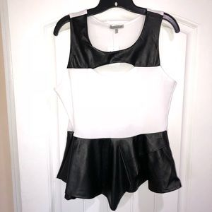 Charlotte Russe Faux Leather Peplum Top